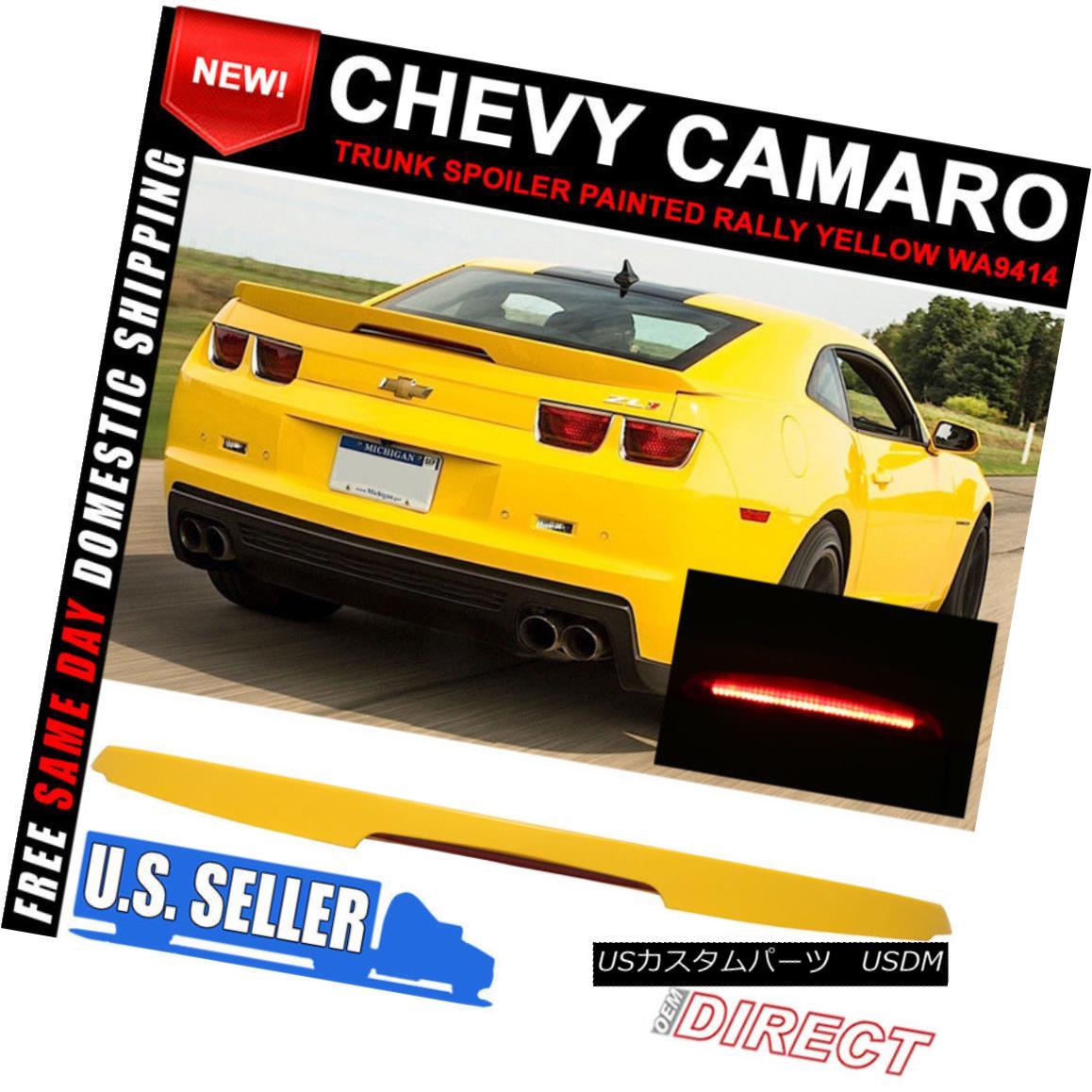 エアロパーツ 10-13 Chevy Camaro ZL1 Style Trunk Spoiler Painted Rally Yellow WA9414 10-13シボレーカマロZL1スタイルトランクスポイラーペイントラリーイエローWA9414
