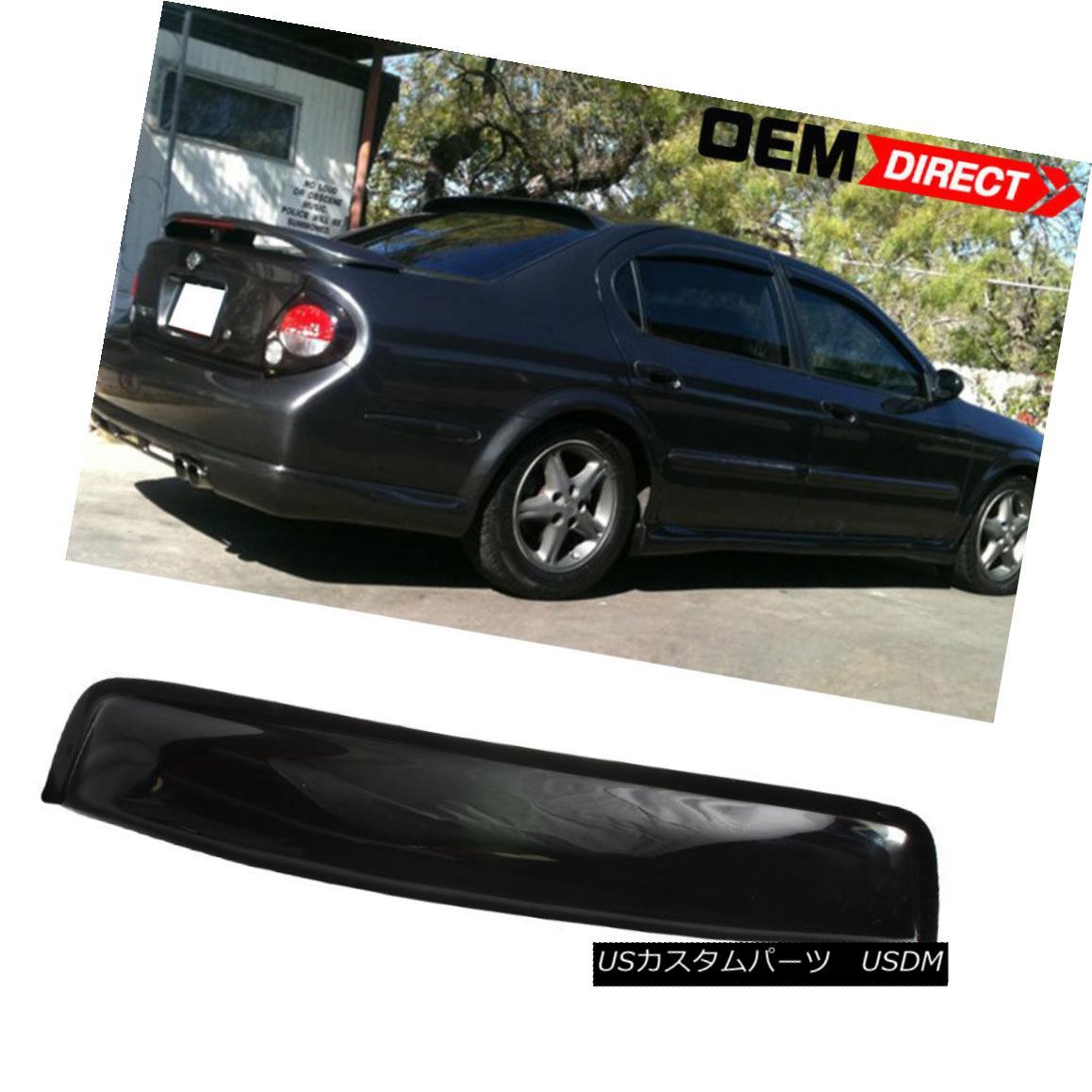 エアロパーツ For 00-03 Nissan Maxima A33 OE Style 4Dr Sedan Acrylic Rear Window Visor 00?03日産マキシマA33 OEスタイル4Drセダンアクリルリアウィンドウバイザー