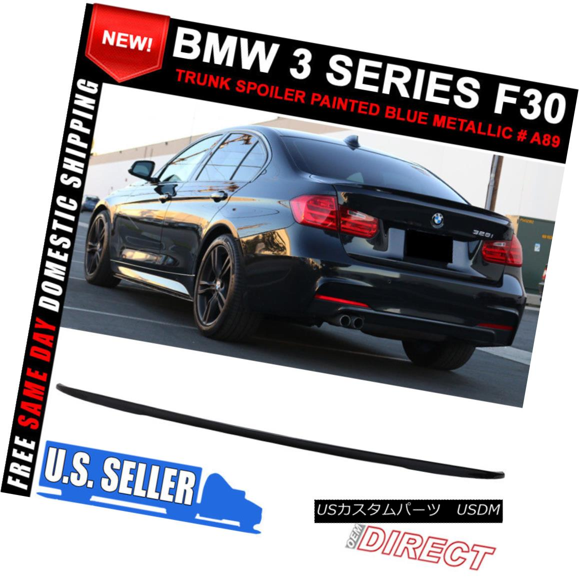 PAINTED PERFORMANCE TRUNK SPOILER WING BMW 3-SERIES F30 4D SEDAN 12-18 328i