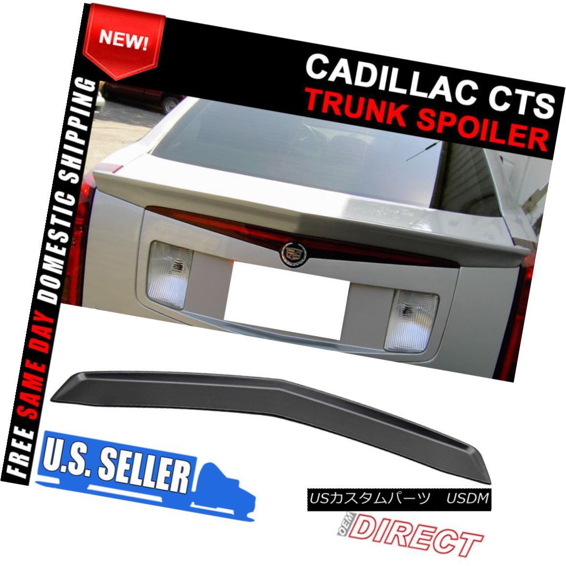 エアロパーツ 03-07 Cadillac CTS Sedan OE Style Rear Trunk Spoiler Unpainted ABS Flush Mount 03-07キャデラックCTSセダンOEスタイルリアトランクスポイラー未塗装ABSフラッシュマウント
