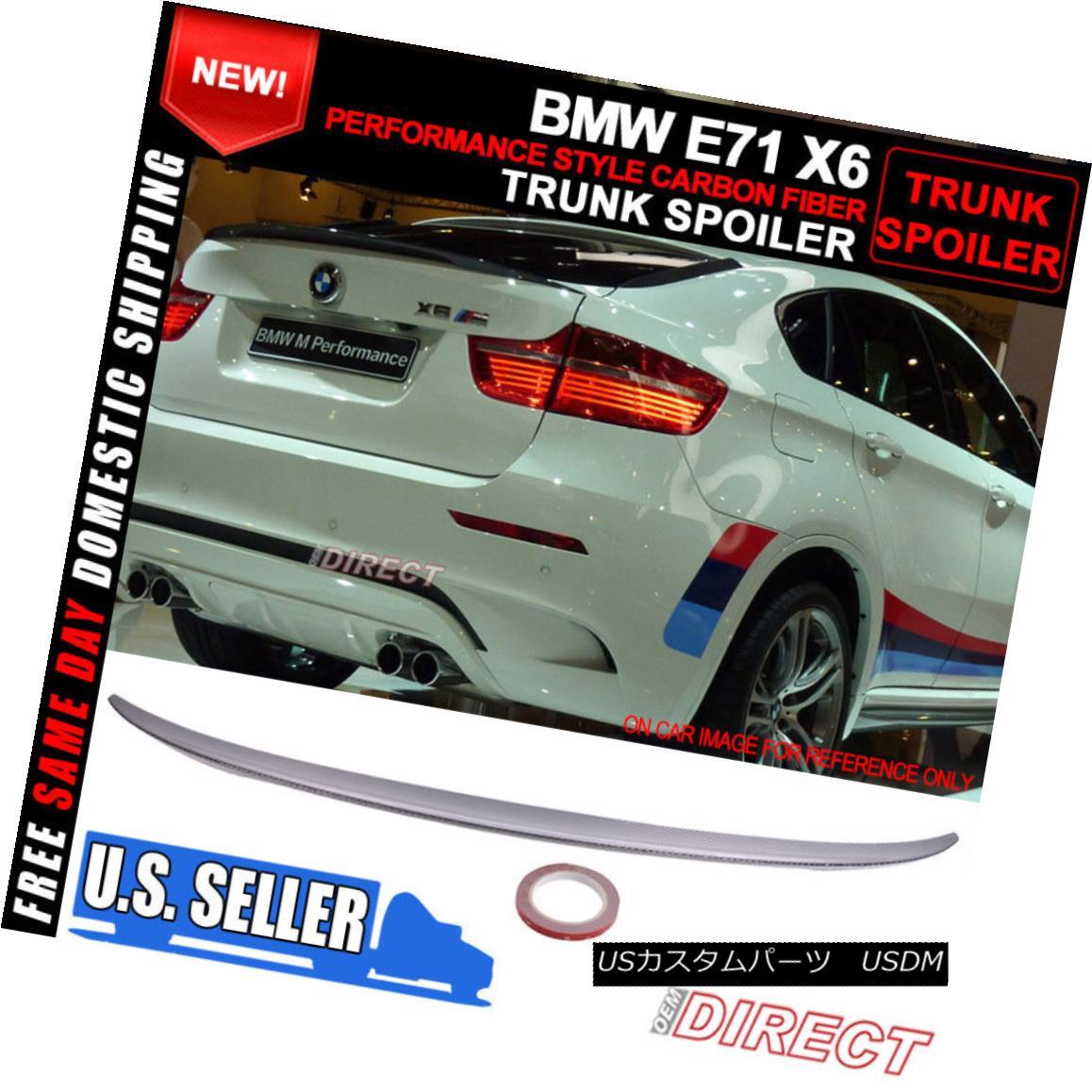 エアロパーツ 08-14 BMW E71 X6 5Dr SUV Performance Style Carbon Fiber Trunk Spoiler (CF) 08-14 BMW E71 X6 5Dr SUVパフォーマンススタイルカーボンファイバートランク・スポイラー(CF)