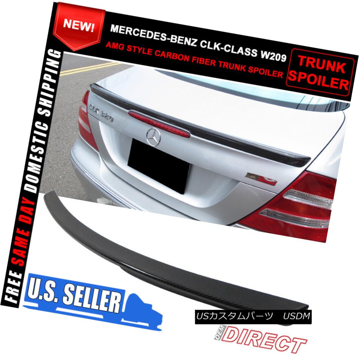 エアロパーツ 03-08 Mercedes Benz CLK-Class W209 AMG Style Trunk CF Spoiler 03-08メルセデスベンツCLKクラスW209 AMGスタイルトランクCFスポイラー