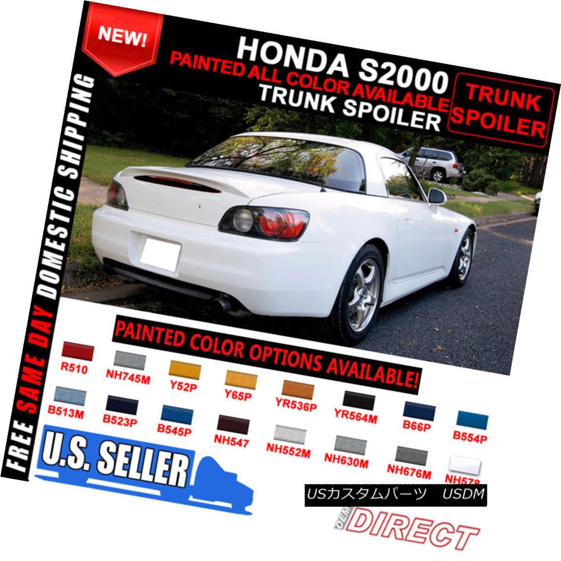 エアロパーツ 00-09 Honda S2000 All Color OEM Painted ABS Rear Trunk Spoiler Wing 00-09ホンダS2000全色OEM塗装ABSリアトラックスポイラーウィング