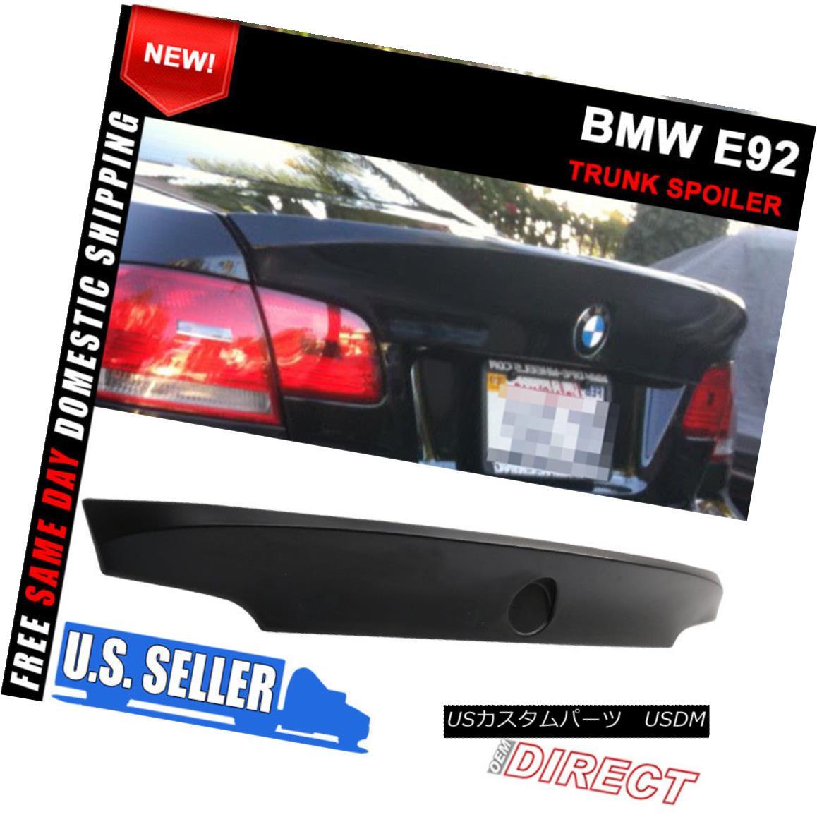 エアロパーツ 07-13 BMW 3-Series E92 M3 CSL Style Unpainted Trunk Spoiler Wing - ABS 07-13 BMW 3シリーズE92 M3 CSLスタイル未塗装トランク・スポイラー・ウィング - ABS