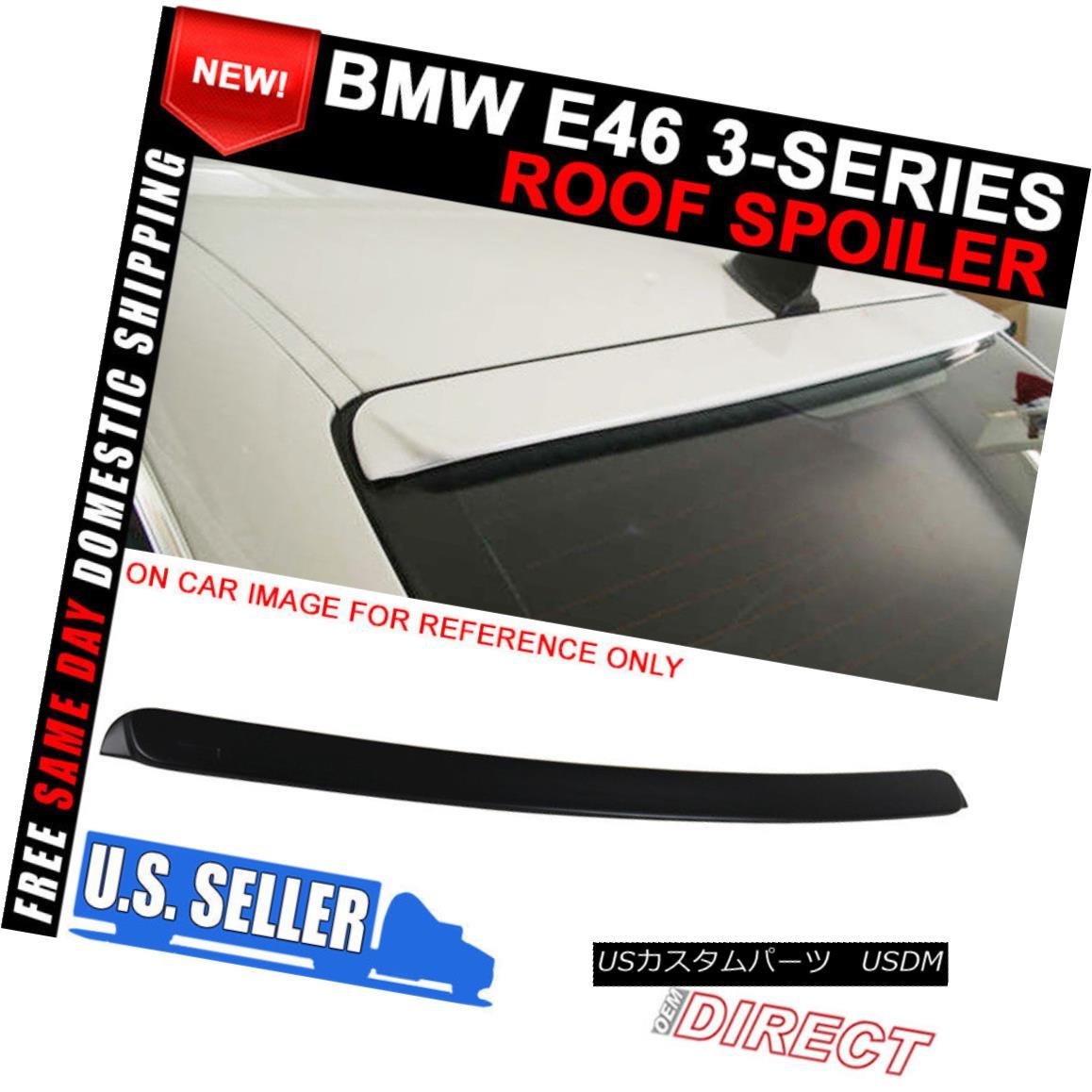 エアロパーツ 99-05 BMW E46 3-Series Ac Style Unpainted ABS Roof Spoiler 99-05 BMW E46 3シリーズACスタイル無塗装ABSルーフスポイラー
