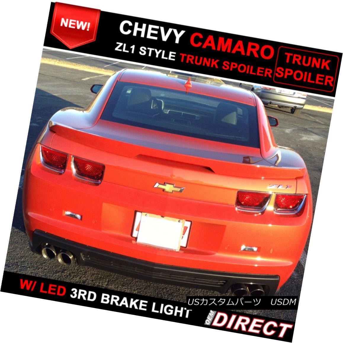 エアロパーツ 10-13 Chevrolet Camaro ZL1 Style Trunk Spoiler Painted Inferno Orange WA502Q 10-13シボレーカマロZL1スタイルトランク・スポイラーペイント・インフェルノ・オレンジWA502Q