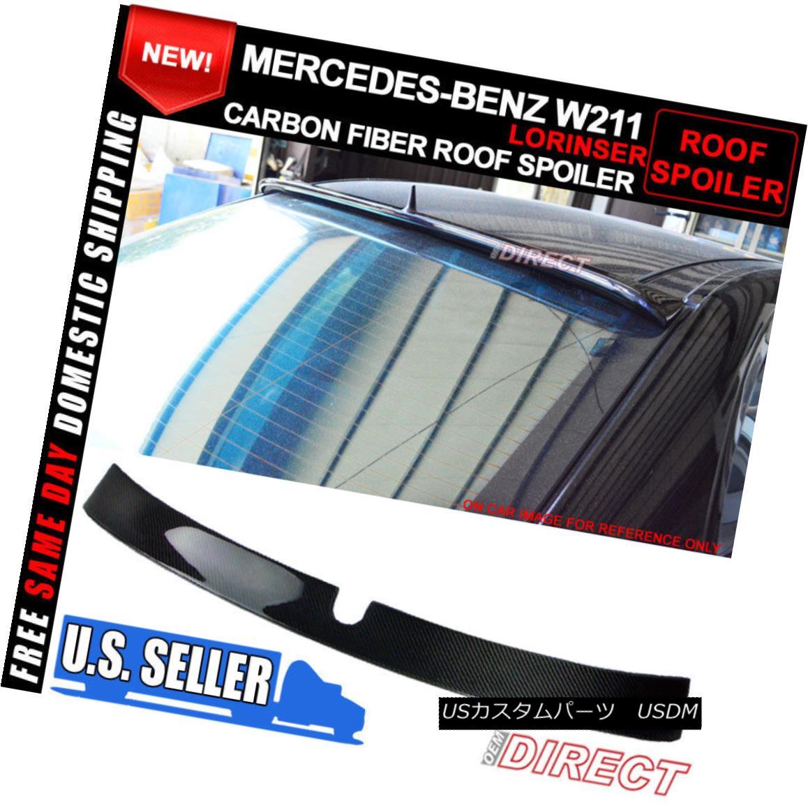 エアロパーツ 02 03 04 05 W211 E-Class 4Dr 4Door Carbon Fiber CF L Style Roof Spoiler Wing 02 03 04 05 W211 Eクラス4Dr 4DoorカーボンファイバーCF Lスタイルルーフスポイラーウイング