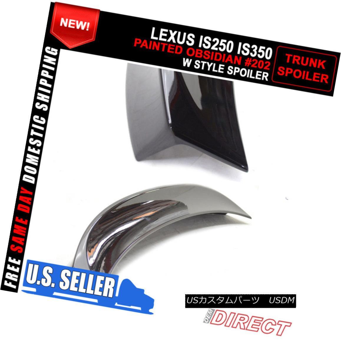 Stock in LA!Painted COLOR #202 BLACK FOR Lexus IS250//IS350 OE TRUNK SPOILER