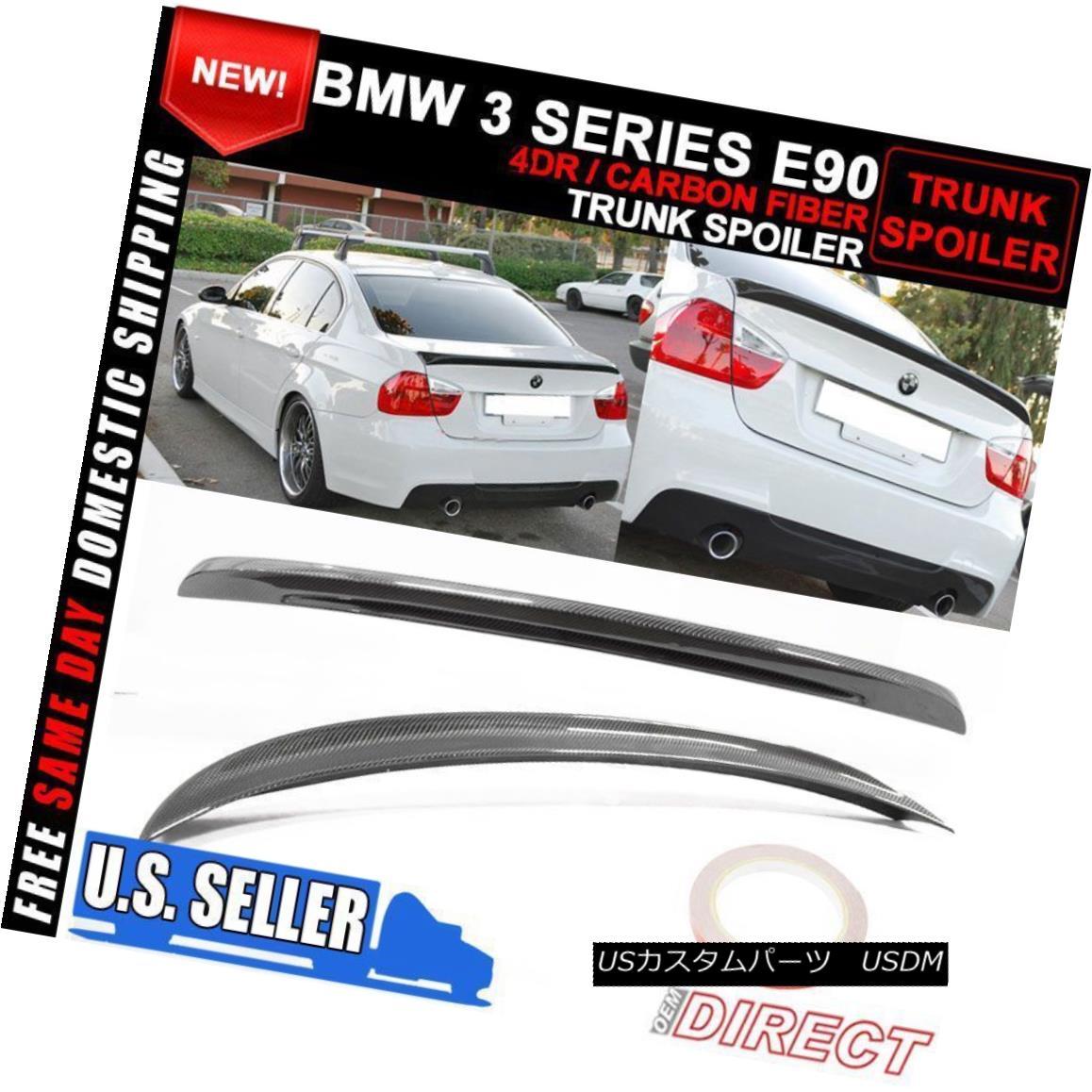 エアロパーツ 06-11 BMW 3 Series E90 M3 Style Rear Trunk Spoiler Carbon Fiber CF 06-11 BMW 3シリーズE90 M3スタイルリアトランク・スポイラーカーボンファイバーCF