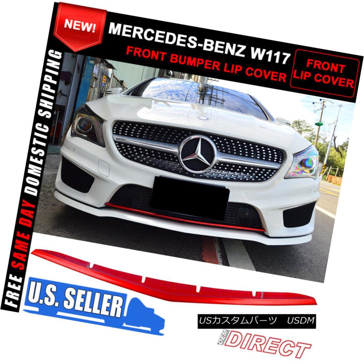 Red Metallic Painted Mercedes BENZ A-Class W176 5D Sport Front Lip Spoiler Cover