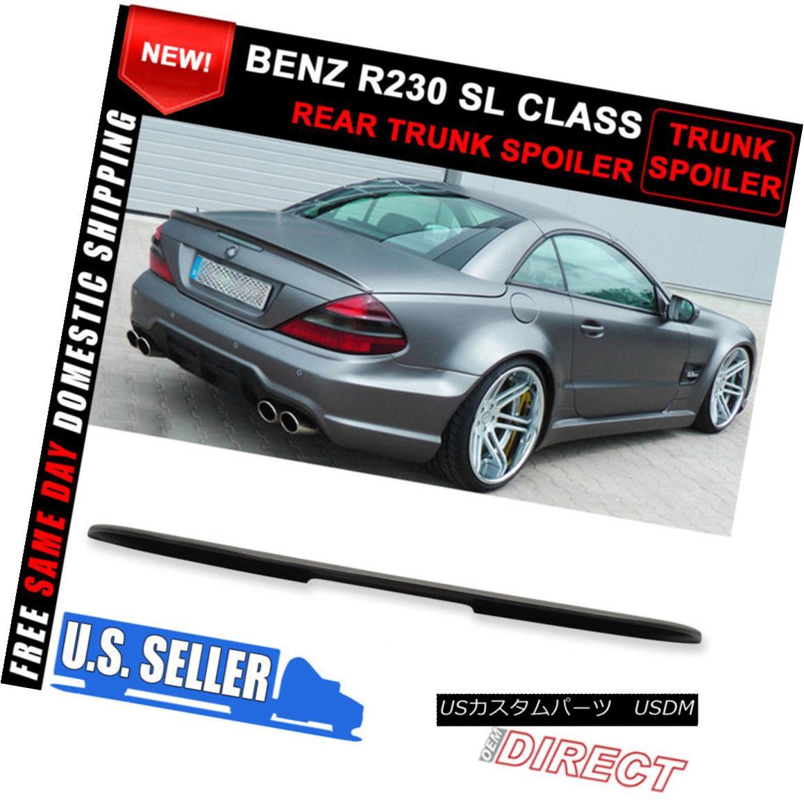 エアロパーツ 03-11 Benz Sl-Class R230 AMG Style ABS Unpainted Trunk Spoiler 03-11ベンツS1クラスR230 AMGスタイルABS無塗装トランク・スポイラー