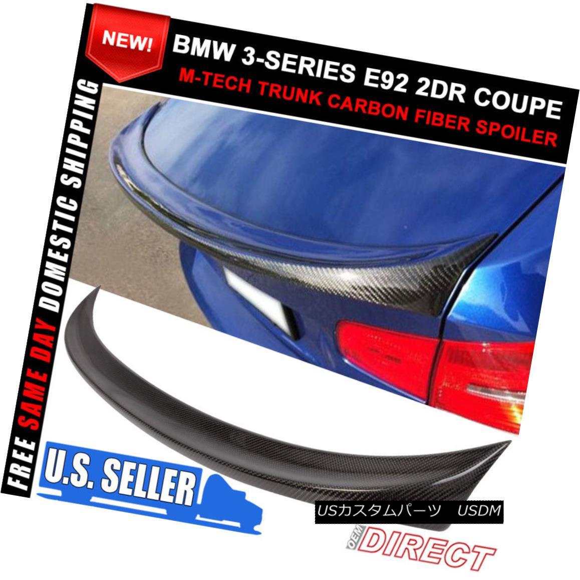 エアロパーツ 07-10 BMW 3Series E92 2D Coupe Mtech Msport Carbon Fiber Trunk Spoiler M3 07-10 BMW 3シリーズE92 2DクーペMtech Msport炭素繊維トランク・スポイラーM3