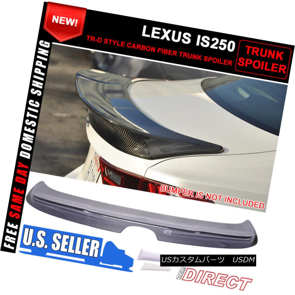 エアロパーツ For 14-16 Lexus IS250 XE30 TR-D Style Trunk Spoiler - Carbon Fiber (CF) 14?16レクサスIS250 XE30 TR-Dスタイルトランク・スポイラー - 炭素繊維(CF)