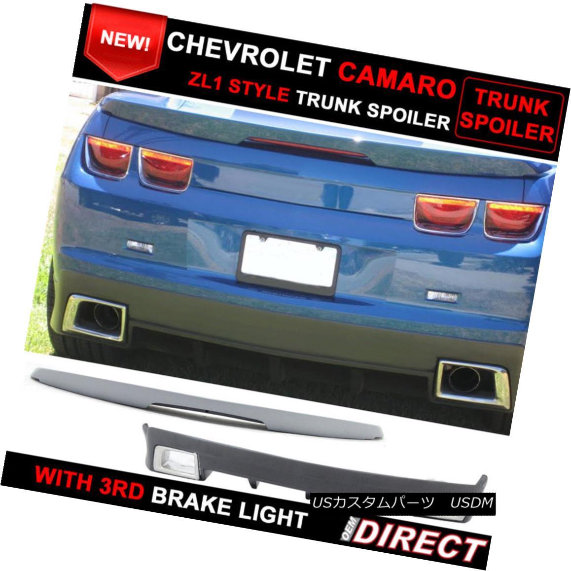 エアロパーツ Fit For Chevy Camaro ZL1 Style Trunk Spoiler W/ Led Light + GFX Rear Lip W/ Tips フィット・フォー・チェビー・カマロZL1スタイル・トランク・スポイラーW / Ledライト+ GFXリア・リップW /ヒント