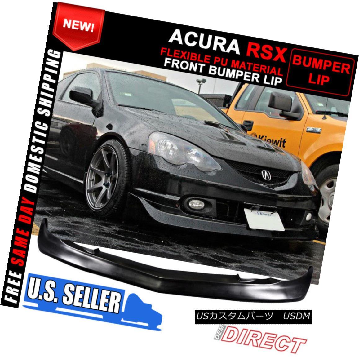 エアロパーツ For 02-04 Acura RSX Mugen Style Front & Rear Lip W/ Led Brake Light 02-04 Acura RSX Mugenスタイルフロント& リアリップW / Ledブレーキライト