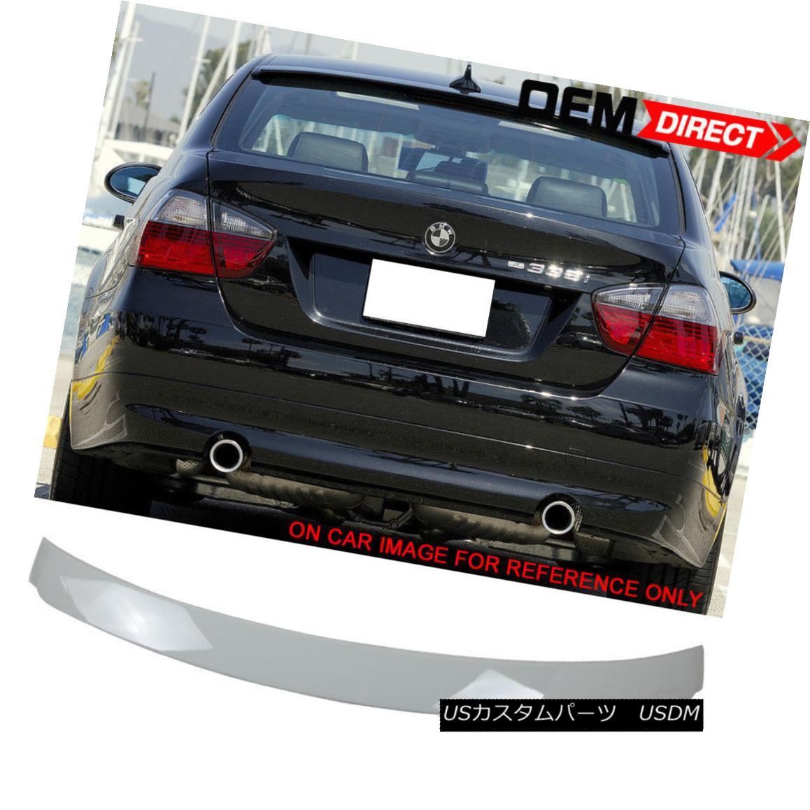 エアロパーツ 06-11 BMW 3 Series E90 4Dr Ac Painted Alpine White III #300 ABS Roof Spoiler 06-11 BMW 3シリーズE90 4Dr Ac塗装アルパインホワイトIII#300 ABSルーフスポイラー