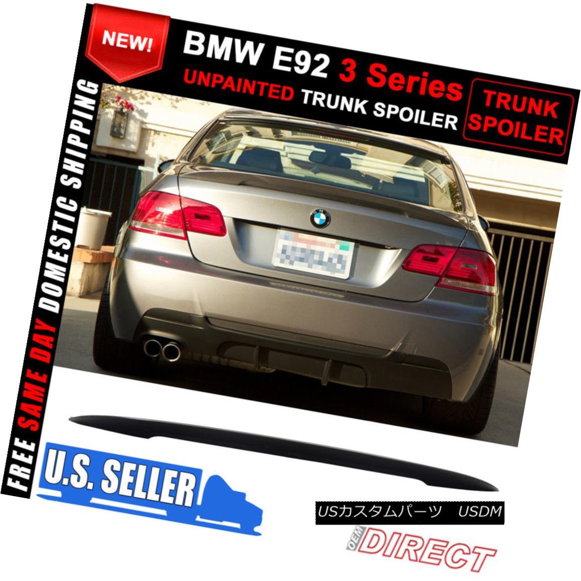 エアロパーツ 07-13 BMW 3 Series E92 High Kick Performance Style Unpainted ABS Trunk Spoiler 07-13 BMW 3シリーズE92ハイキックパフォーマンススタイル無塗装ABSトランクスポイラー