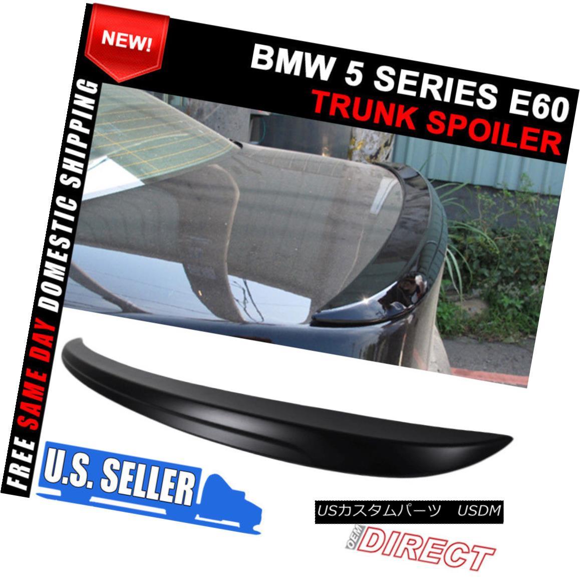 エアロパーツ 04-10 BMW 5 Series E60 M5 Style Unpainted ABS Trunk Spoiler 04-10 BMW 5シリーズE60 M5スタイル無塗装ABSトランク・スポイラー