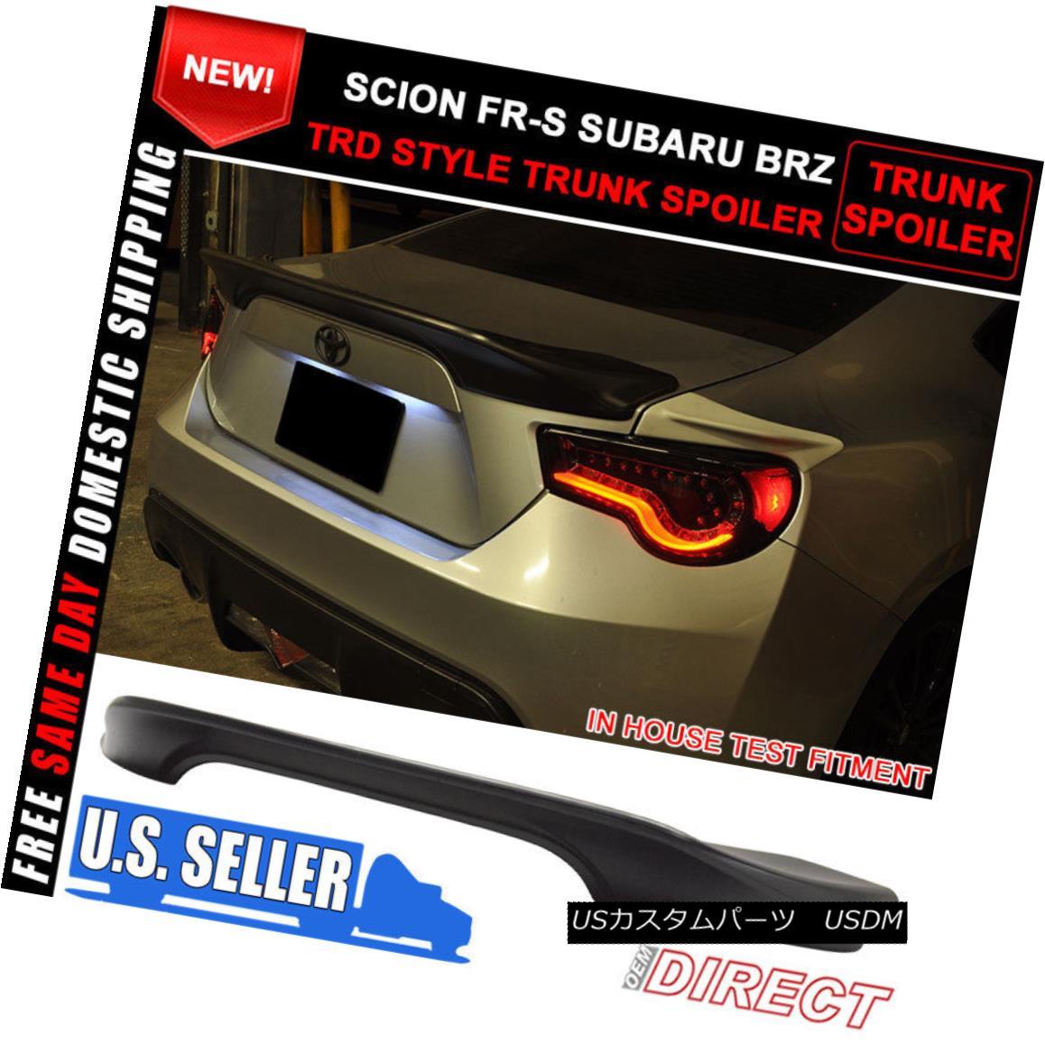 エアロパーツ Fits 13-17 Scion FRS GT86 Subaru BRZ Tr Style Trunk Spoiler ABS Lid ABS フィット13-17サイオンFRS GT86スバルBRZ TrスタイルトランクスポイラーABS蓋ABS