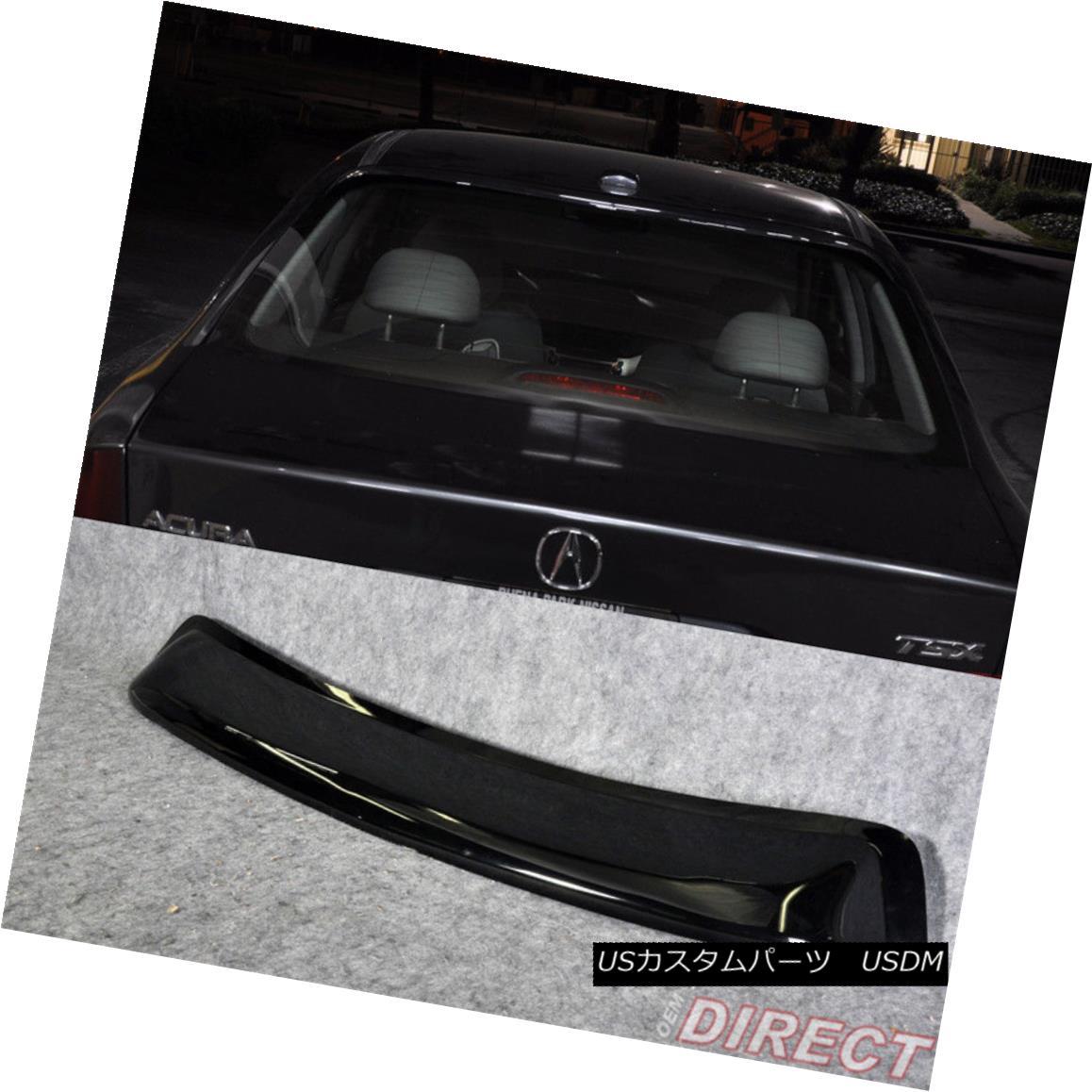 エアロパーツ Fit For 04-08 Acura Tsx Sedan Acrylic Rear Roof Window Visor フィット04-08アキュラTsxセダンアクリルリヤウインドバイザー