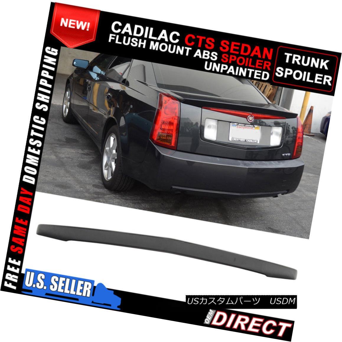 エアロパーツ 03-07 Cadillac CTS Sedan Flush Mount OE Factory Rear Spoiler ABS Decklid Wing 03-07キャデラックCTSセダンフラッシュマウントOE工場リアスポイラーABSデクライドウイング