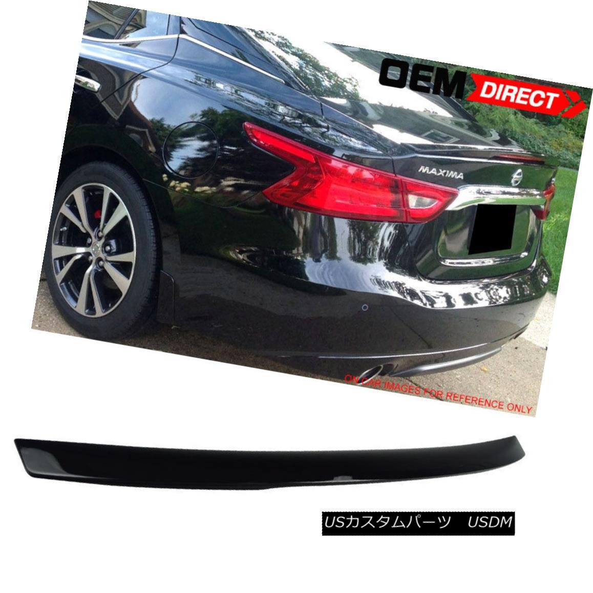 エアロパーツ Fit For 16-18 Maxima OE ABS Trunk Spoiler Painted Super Black # KH3 16-18マキシマOEのフィットABSトランクスポイラーは、スーパーブラック#KH3を塗った
