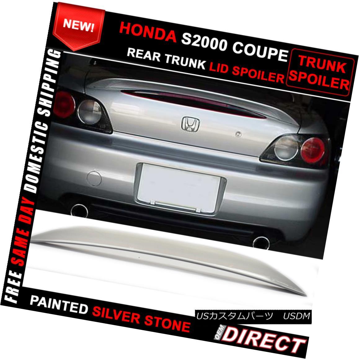 エアロパーツ Fit 00-09 Honda S2000 OE Color #Nh630M Painted Trunk Spoiler AP2 AP2 フィット00-09ホンダS2000 OEカラー#Nh630M塗装トランクスポイラーAP2 AP2