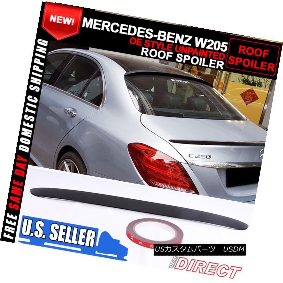 MERCEDES BENZ S550 S600 CLASS ROOF UNPAINTED SPOILER 2007-2013