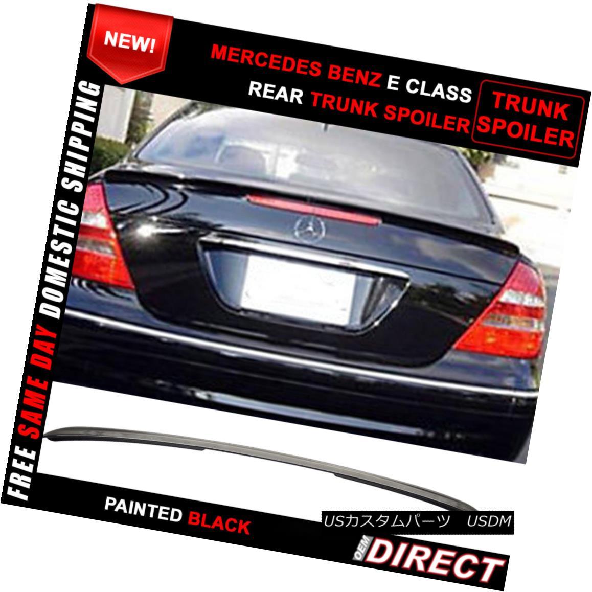 エアロパーツ 03-09 Benz E-Class W211 AMG Style #040 Painted ABS Trunk Spoiler 03-09ベンツEクラスW211 AMGスタイル#040塗装ABSトランク・スポイラー