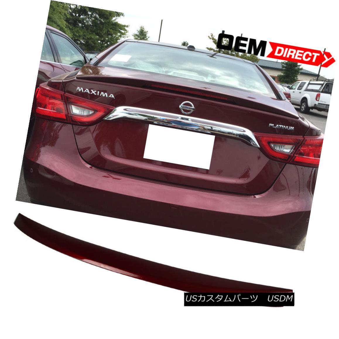 エアロパーツ Fit For 16-18 Maxima OE ABS Trunk Spoiler Painted Coulis Red # NAW 16-18マキシマOEのフィットABSトランクスポイラー塗装Coulis赤#NAW