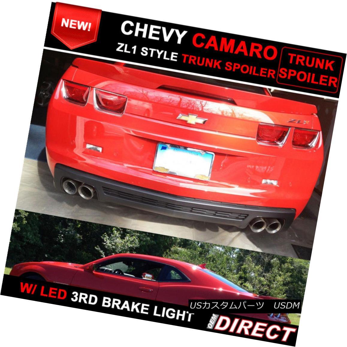 エアロパーツ 10-13 Chevrolet Camaro ZL1 Style Trunk Spoiler Painted Victory Red WA9260 10-13シボレーカマロZL1スタイルトランクスポイラーペインテッドビクトリーレッドWA9260