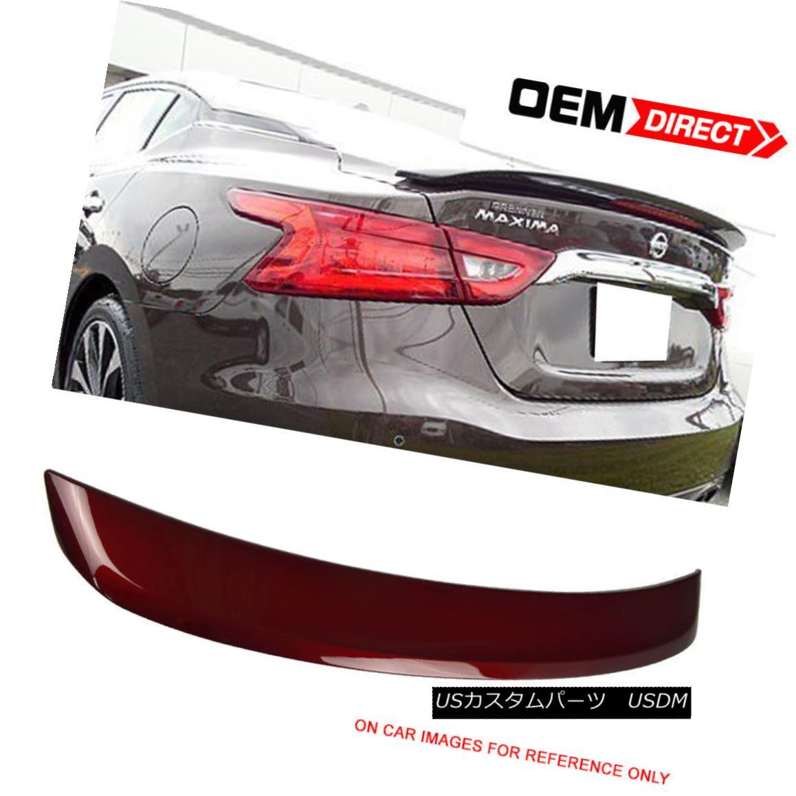 エアロパーツ Fit For 16-18 Maxima OE2 ABS Trunk Spoiler Painted Coulis Red # NAW 16-18 Maxima OE2 ABSトランク・スポイラー・ペイント・クールス・レッド#NAW