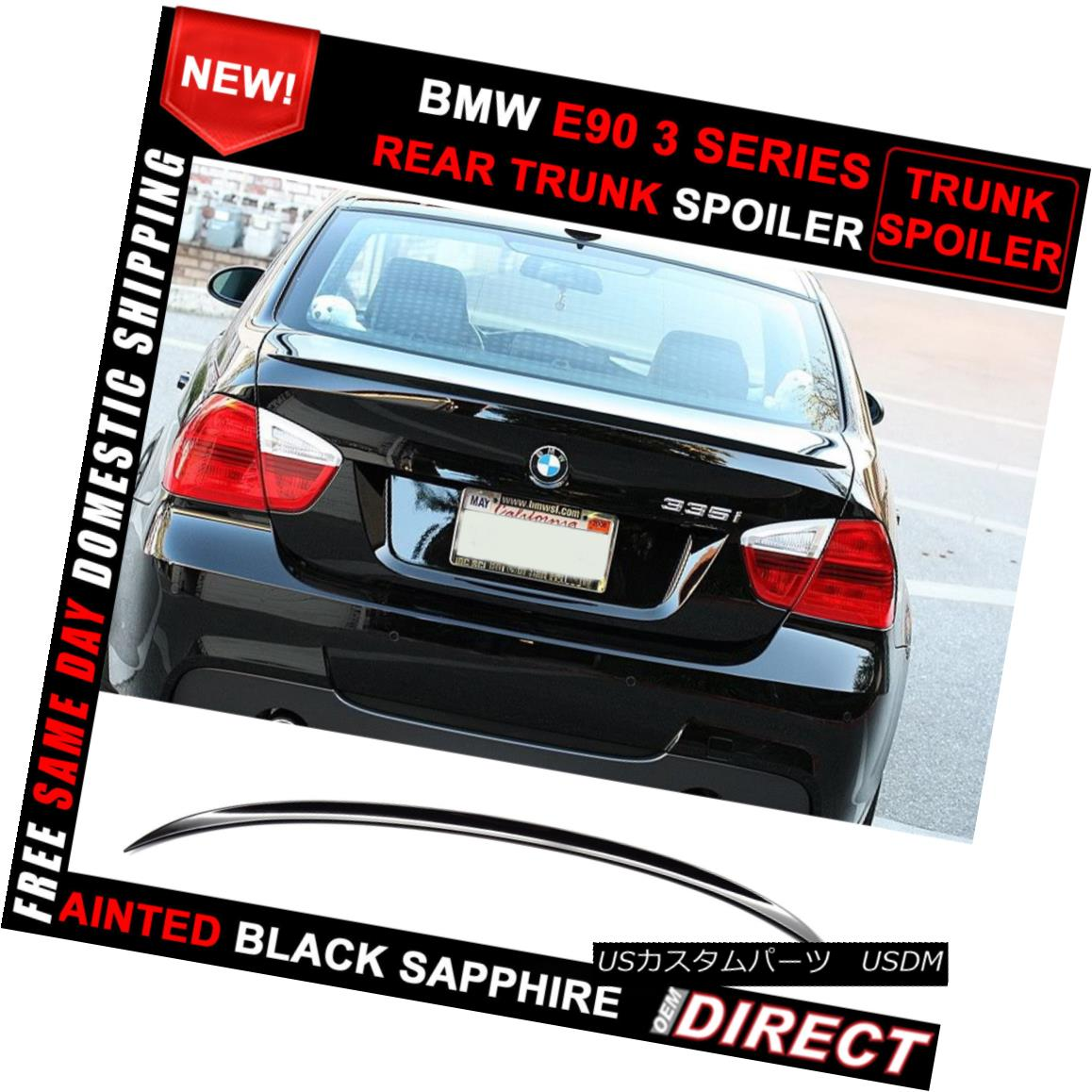 エアロパーツ 06-11 BMW 3-Series E90 M3 Style Color Code #475 Painted Trunk Spoiler 06-11 BMW 3シリーズE90 M3スタイルカラーコード#475塗装トランクスポイラー