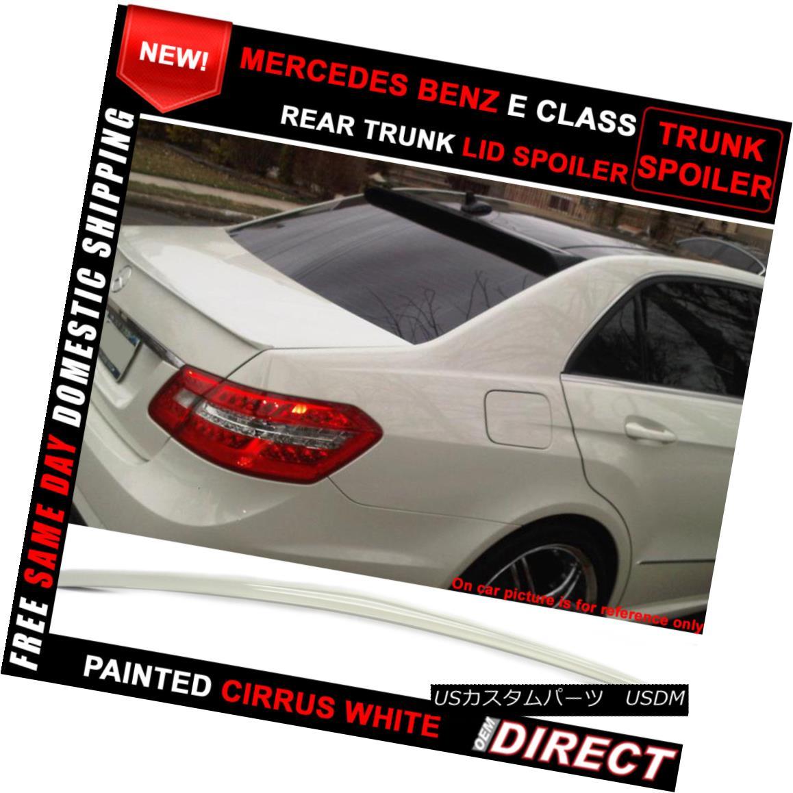 エアロパーツ 10-16 Benz E-Class W212 Sedan AMG Style #650 Painted Trunk Spoiler 10-16ベンツEクラスW212セダンAMGスタイル#650塗装トランク・スポイラー
