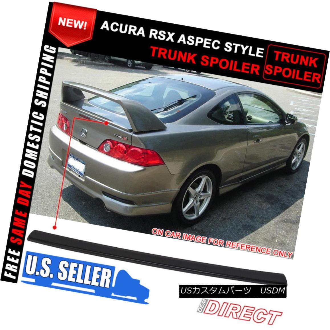 エアロパーツ 02-06 Acura RSX DC5 Aspec Mini Decklid For R Style Trunk Spoiler ABS 02-06 Acura RSX DC5 AspecミニDecklid RスタイルトランクスポイラーABS用