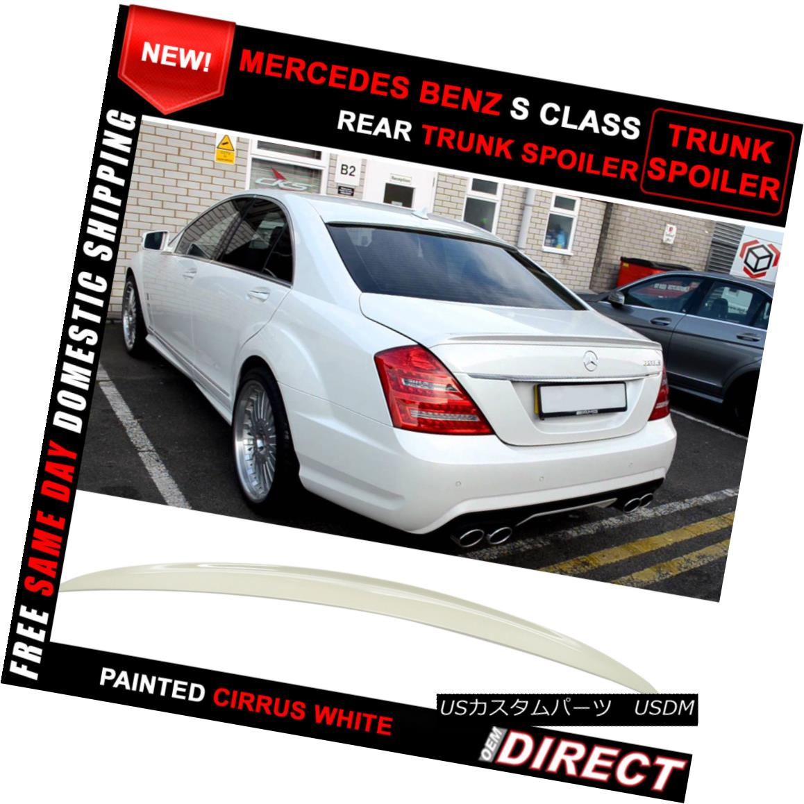 05-10 Mercedes Benz CLS-Class W219 4Dr AMG Style Unpainted ABS Trunk Spoiler
