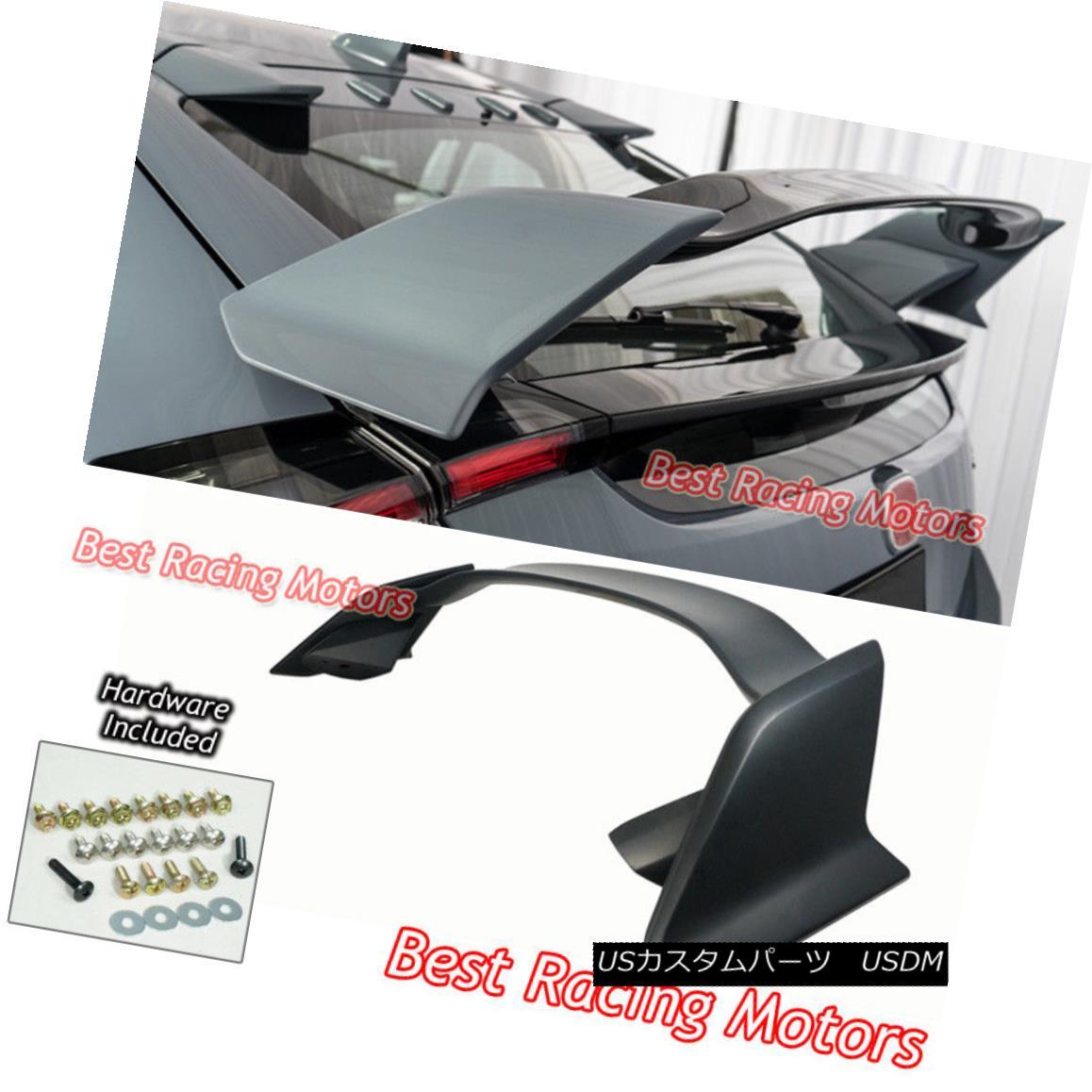 エアロパーツ Type R Style Rear Trunk Spoiler Wing (ABS) Fits 17-18 Civic 5dr Hatchback タイプRスタイルのリアトランク・スポイラー・ウィング(ABS)17-18シビック5drハッチバックに適合
