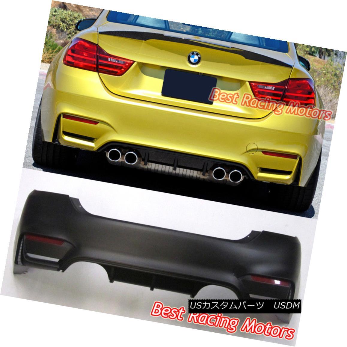 エアロパーツ M4 Style Rear Bumper (2 Outlets) [2 Tips / Outlet] Fit 15-18 BMW F36 Gran Coupe M4スタイルリアバンパー(2アウトレット)[2ヒント/アウトレット]フィット15-18 BMW F36グランクーペ