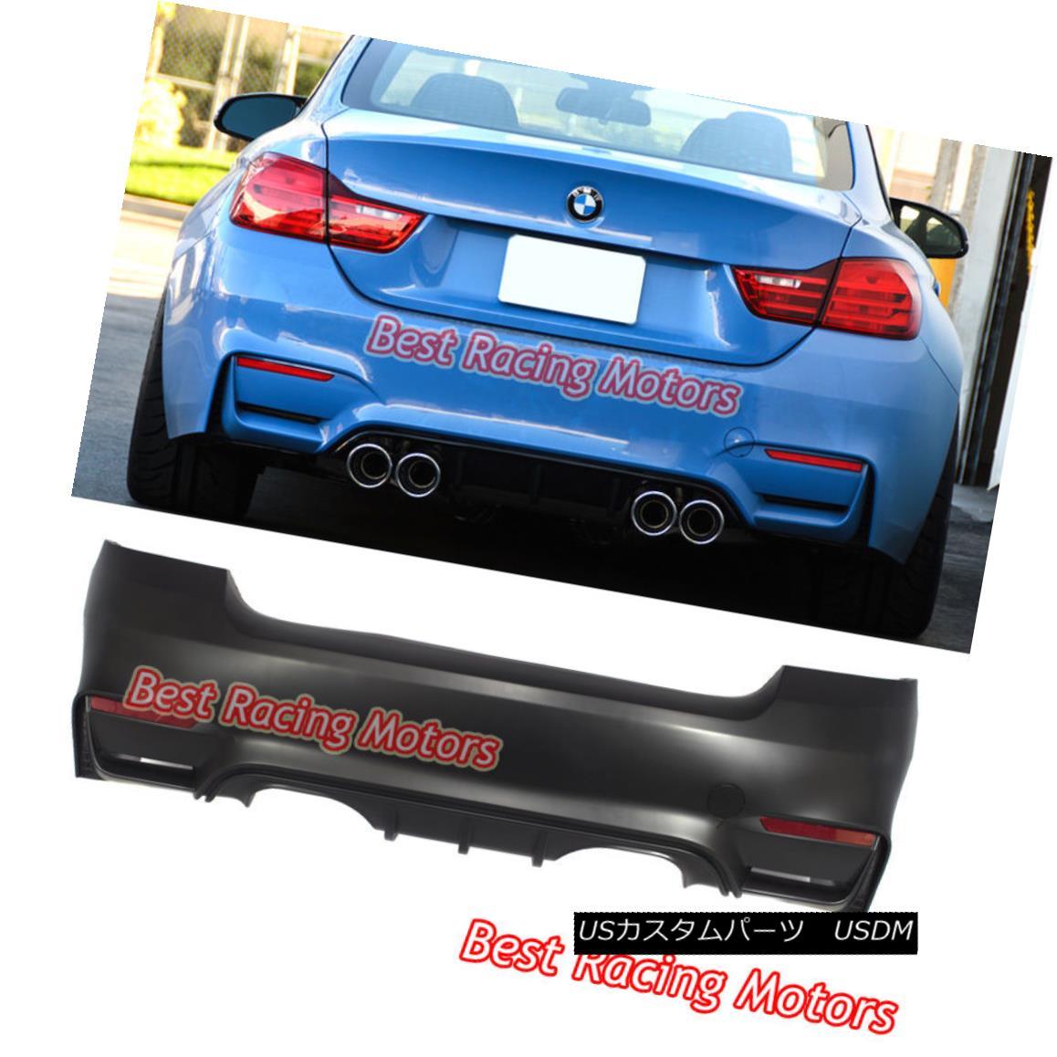 エアロパーツ M4 (F82) Style Rear Bumper (2 Outlets) [2 Tips / Outlet] Fits 07-13 BMW E92 2dr M4(F82)スタイルリアバンパー(2アウトレット)[2ヒント/アウトレット]適合07-13 BMW E92 2dr