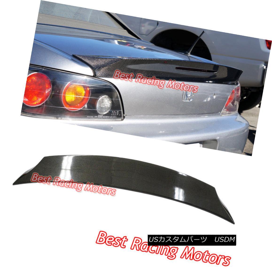 エアロパーツ TD Style Rear Trunk Spoiler (Carbon) Fits 00-09 Honda S2000 AP1 AP2 TDスタイルリアトランク・スポイラー(カーボン)適合00-09ホンダS2000 AP1 AP2
