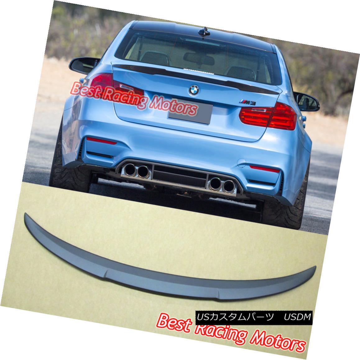 エアロパーツ M4 High Kick Style Trunk Spoiler (ABS) Fits 12-18 BMW F30 (3-Series) F80 (M3) M4ハイキックスタイルのトランク・スポイラー(ABS)が12-18 BMW F30(3シリーズ)F80(M3)に適合