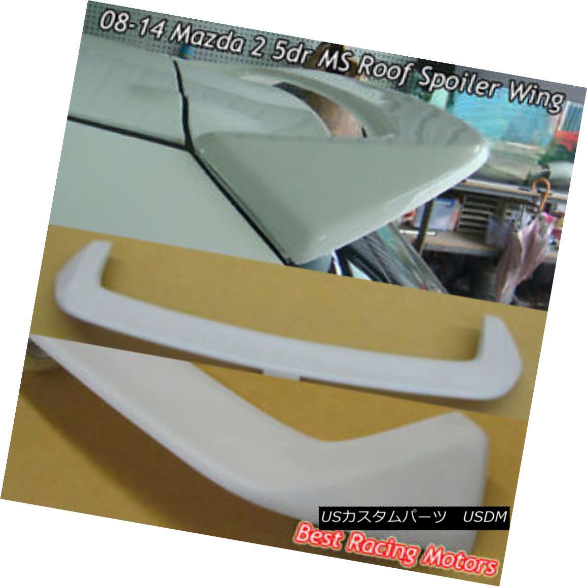 エアロパーツ MS Style Rear Roof Spoiler Wing (FRP) Fits 08-14 Mazda 2 5dr MSスタイルリアルーフスポイラーウイング(FRP)適合車08-14マツダ2 5dr