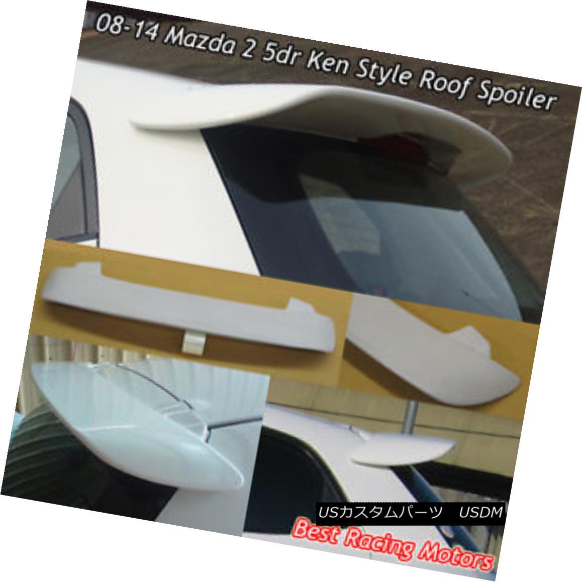 <title>車用品 バイク用品 >> 即日出荷 パーツ 外装 エアロパーツ リアスポイラー K Style Rear Roof Spoiler Wing FRP Fits 08-14 Mazda 2 5dr Kスタイルリアルーフスポイラーウイング フィット08-14マツダ2</title>