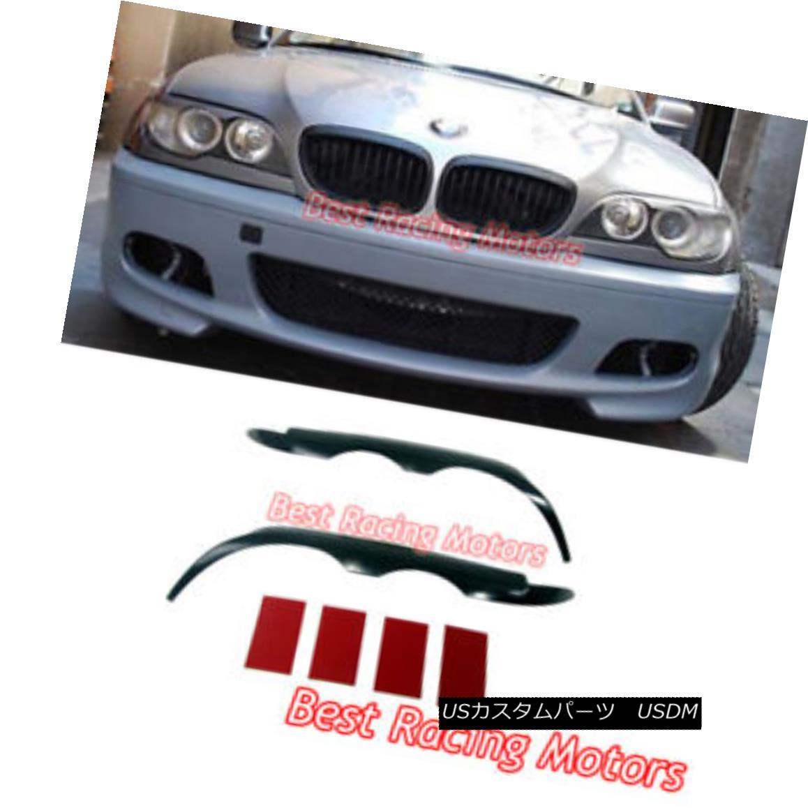 エアロパーツ Kamei Style Eyebrows Eyelids Covers (ABS) Fits 04-06 BMW E46 2dr 3-Series 亀井スタイル眉毛まぶたカバー(ABS)フィット04-06 BMW E46 2dr 3シリーズ