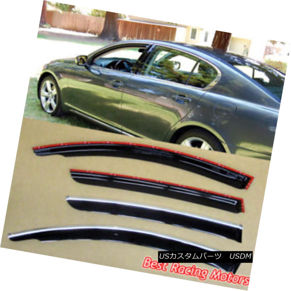 エアロパーツ JDM Style Side Window Visors Fits 06-11 Lexus GS300 GS350 GS430 GS450h GS460 JDMスタイルのサイドウインドウバイザーは06-11に適合するレクサスGS300 GS350 GS430 GS450h GS460