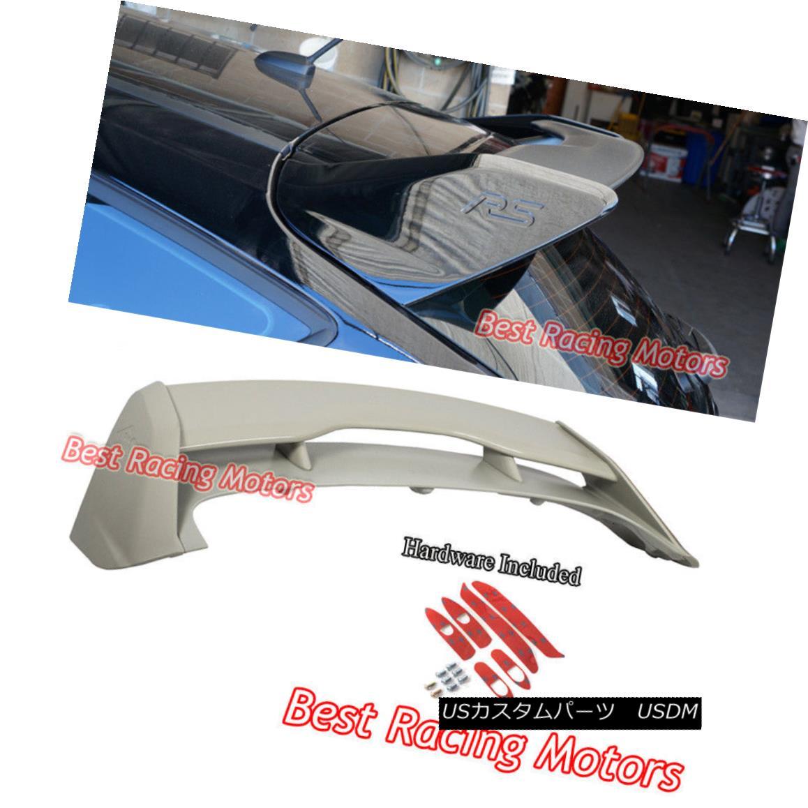 エアロパーツ RS Style Roof Spoiler Wing (ABS) Fits 12-18 Ford Focus 5dr Hatch RSスタイルルーフスポイラーウィング(ABS)12-18フォードフォーカス5drハッチフィット