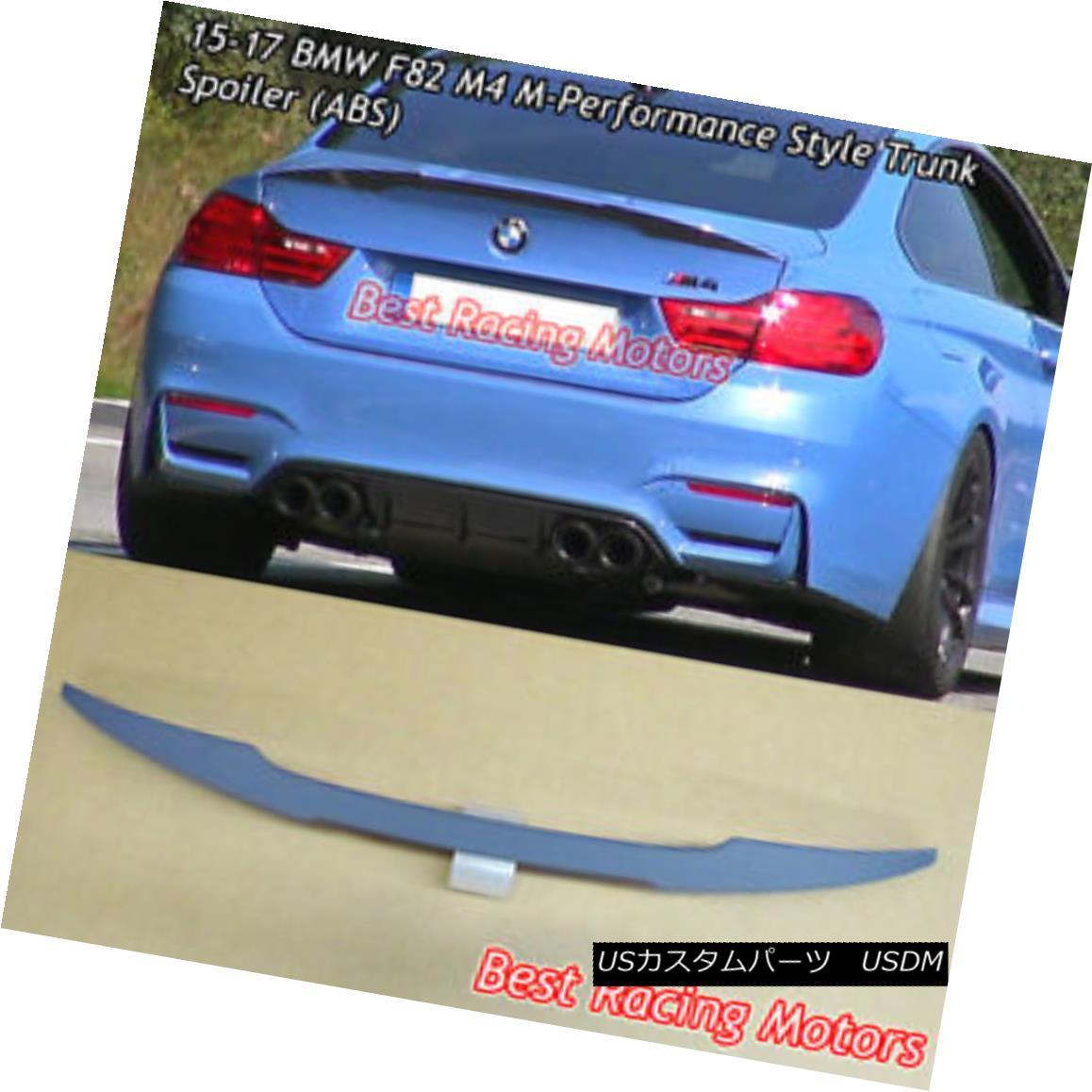 エアロパーツ Performance Style Trunk Spoiler (ABS) Fits 15-18 BMW F82 M4 Coupe パフォーマンススタイルのトランク・スポイラー(ABS)が15-18 BMW F82 M4クーペに適合