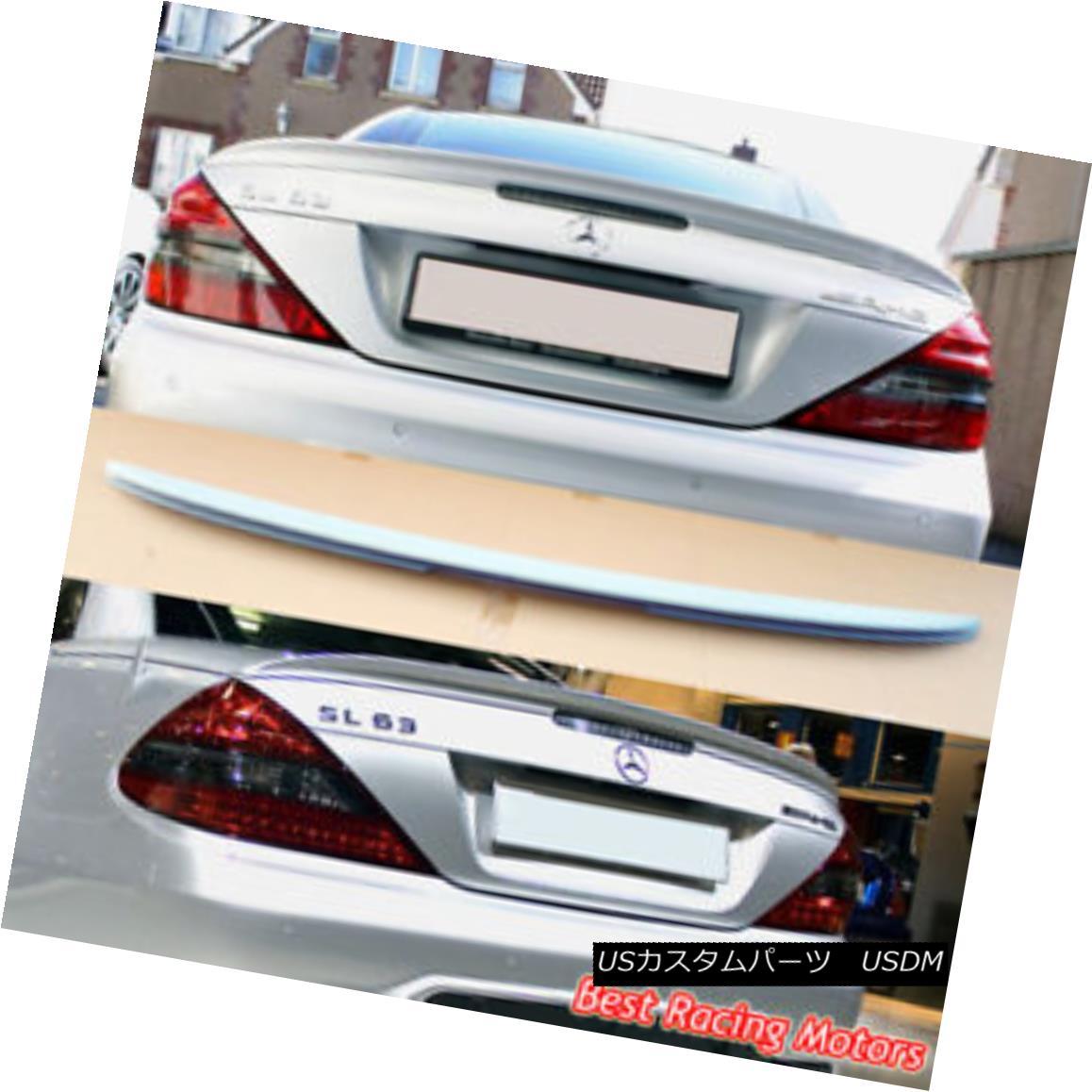 エアロパーツ A Style Trunk Spoiler Wing (ABS) Fits 03-12 Mercedes-Benz R230 SL-Class スタイル・トランク・スポイラー・ウィング(ABS)が03-12のメルセデス・ベンツR230 SLクラスに適合