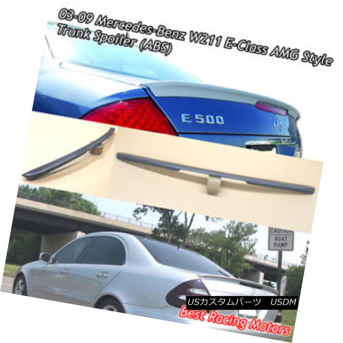 エアロパーツ A Style Trunk Spoiler Wing (ABS) Fits 03-09 Mercedes-Benz W211 E-Class スタイルのトランク・スポイラー・ウィング(ABS)が03-09 Mercedes-Benz W211 Eクラスに適合