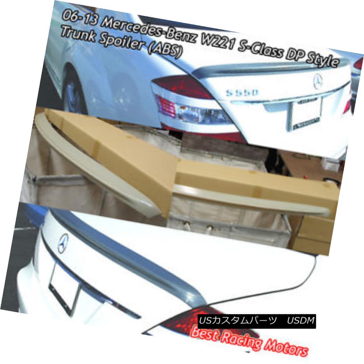 エアロパーツ DP Style Trunk Spoiler Wing (ABS) Fits 06-13 Mercedes-Benz W221 S-Class DPスタイルのトランク・スポイラー・ウィング(ABS)が06-13のメルセデス・ベンツW221 Sクラスに適合